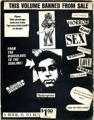 """""""From William S. Burroughs, Writing of Norse's Exhibition in Paris of Cosmographs"""" in OLE #5 - Special Harold Norse issue (Bensenville, IL: Open Skull Press, 1966)."""