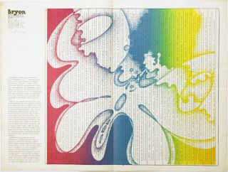 """A cut-out/cut-in psychedelic colour centrespread featuring cut-up texts from """"Minutes To Go"""" in INTERNATIONAL TIMES #12 (London: April 28, 1967)."""