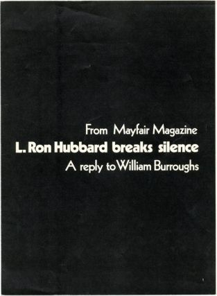An offprint from MAYFAIR magazine Vol. 5, #6 (London: June 1970), William S. BURROUGHS, contributes
