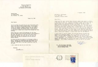 A typed letter signed ('William') from William Burroughs to Harold Norse, dated August 4, 1986,...