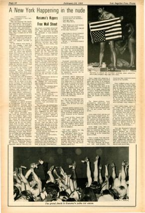 """""""Mysteries and Smaller Pieces"""". Harvey Perr's review of The Living Theatre at USC's Bovard Auditorium, in LOS ANGELES FREE PRESS #241 (February 28, 1969)."""