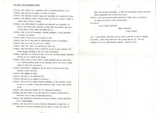 A group of texts by four Living Theatre members, c. 1970.
