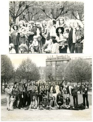 A group of 8 vintage b/w photographs featuring members of The Living Theatre.