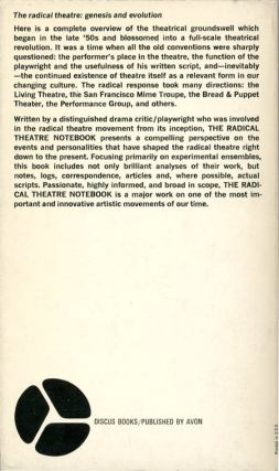 THE RADICAL THEATRE NOTEBOOK.