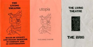A group of 6 Living Theatre programmes.